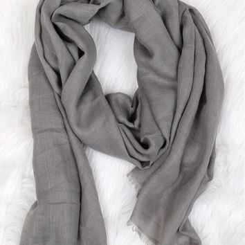 Open End Pashmina Grey
