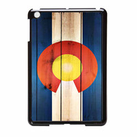 Colorado State Flag Wood Design iPad Mini Case