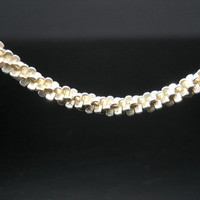 Popcorn Necklace 18 Inch Sterling Silver Chain Twist Spiral Chunky Italy 925