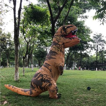Dragon t rex Dino Rider Suit T-Rex Costume Purim Cosplay Christmas Adult Halloween Inflatable Dinosaur Costume For Women Men