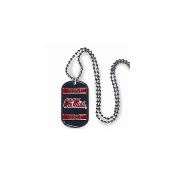 Collegiate Mississippi 20 inch Dogtag Chain Necklace