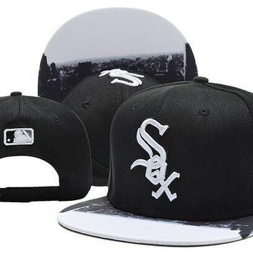 Perfect MLB Chicago White Sox Snapback hats Women Men Embroidery Sports Sun Hat Baseball Cap Hat