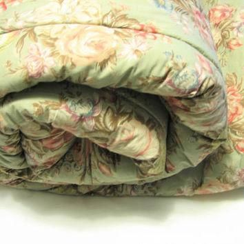 Vintage Ralph Lauren CHARLOTTE Full Queen Comforter, Excellent ... Cabbage Roses on Sa