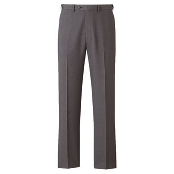 Chaps Sharkskin Classic-Fit Flat-Front Dress Pants