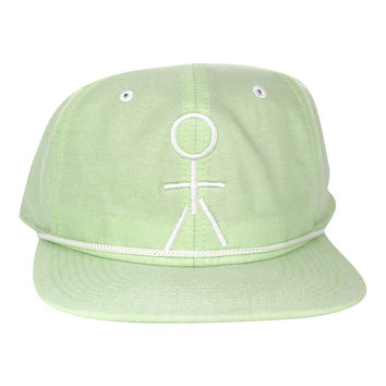 Stickman Snapback Hat - Lime Green / White