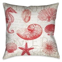 Red Shells II Indoor Decorative Pillow