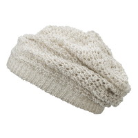 Open Stitch Crochet Slouchy Hat