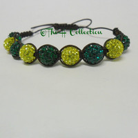 Green Bay Packers Shamballa style bracelet