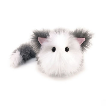 Buddy the Grey and White Cat Stuffed Animal Plush Toy