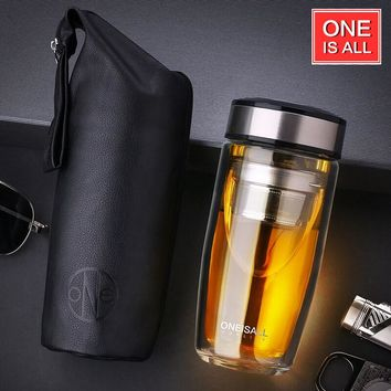 Double Walled Glass Tumbler tea Infuser