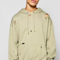 Destroyed Oversized Overhead Hoody