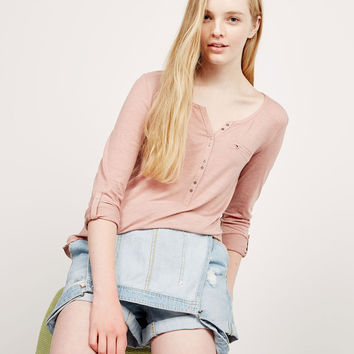 Long sleeve baker top with pocket - T- Shirts - Bershka Germany