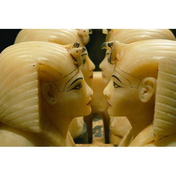 Alabaster carvings found in the tomb of Tutankhamun