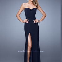 Sweetheart Floor Length With High Slit La Femme Prom Dress 20993