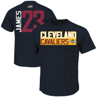 LeBron James Cleveland Cavaliers Majestic Vertical Name Number T-Shirt - Heather Charcoal
