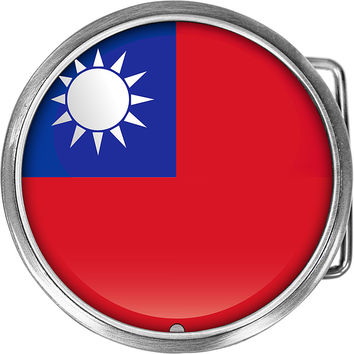 Taiwan Flag Belt Buckle