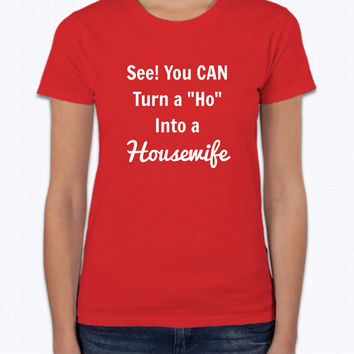 Funny Housewife Short Sleeve T-Shirt for Women