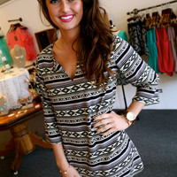 Aztec Print Tunic/Dress