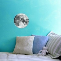 Full Moon Vinyl Wall Decal 10 Inches Across by WilsonGraphics