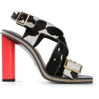 Calvin Klein Collection Cow Print Sandal