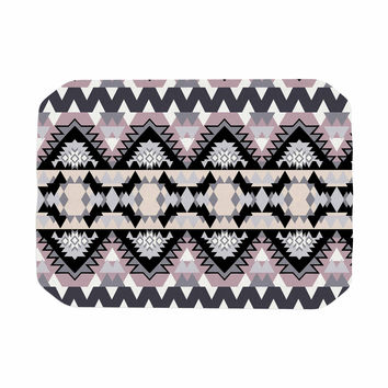 "Victoria Krupp ""Nordic Ice"" Black Pastel Digital Place Mat"