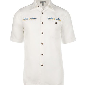 Men 39 s yellowfin tuna l s uv fishing from hook tackle for Fishing shirt of the month