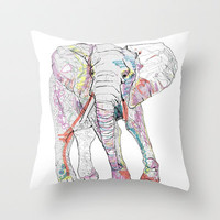 Elephant Throw Pillow by Caseysplace