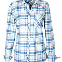 Flannel Button-Down Shirt