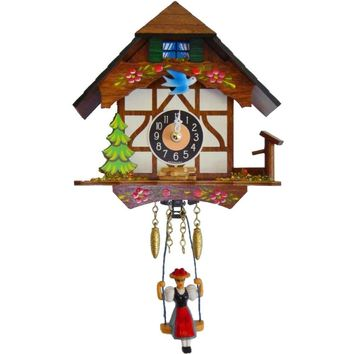 ENGS 0191SQ Engstler Battery-operated Clock - Mini Size with Music-Chimes