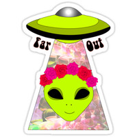 'Far Out' Sticker by galacticjelly