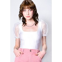 Ice Queen Puff Sleeve Blouse