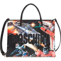 Moschino Medium Logo Transformer Print Tote | Nordstrom