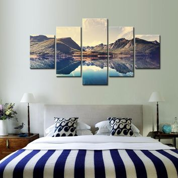 Canvas Wall Art: Landscape Series 5-Panel Wall Art