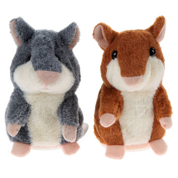 Talking Hamster Mouse Pet Plush Toy Hot Cute Speak Talking Sound Record Hamster Educational Toy for Children Christmas Gift