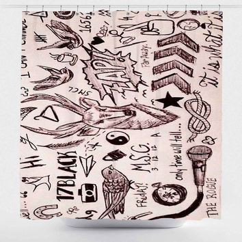 Shop Tattoo Shower Curtain on Wanelo