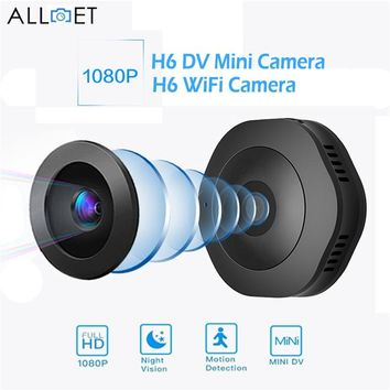ALLOET H6 DV WiFi Mini Camera 1080P Night Vision Motion Detection Camcorder Home Security Surveillance Wireless IP Micro Camera