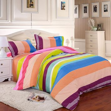 Cool Home Textiles 15 Color Bedding Sets King/Queen/Twin Sizes Duvet Cover/Bed Sheet/Pillowcases Bedclothes Bedding FreeShipping BS5AT_93_12