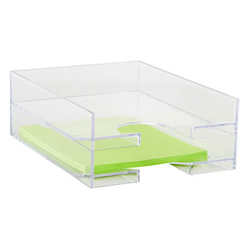 Clear Stackable Letter Tray