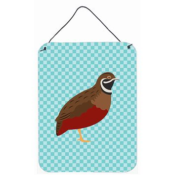 Chinese Painted or King Quail Blue Check Wall or Door Hanging Prints BB8130DS1216