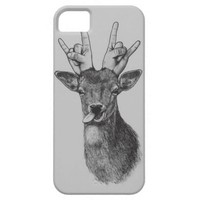 Deer Punk Illustrated Phone Case