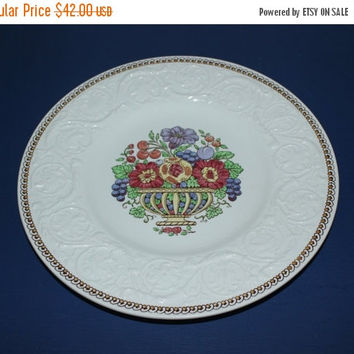 ON SALE Wedgwood Patrician Windermere made in England Salad Dessert Plates (Set of 3), vintage plates, flower plates