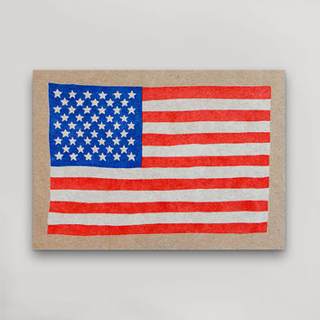 USA Flag Postcard (RWB)