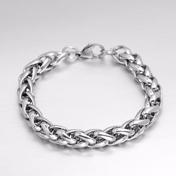 Never Fade 316 Stainless Steel Men Bracelet Jewelry Man Wristband Charm Braclet For Male Accessories Hand Cuff