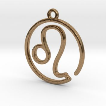 Leo Zodiac Pendant by Jilub on Shapeways