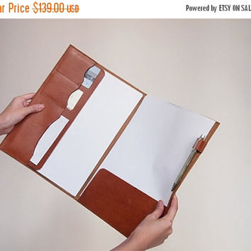 ON SALE 30% OFF Document Folder/ Case - A4 / Letter - Leather - Harlex Hand Stitched
