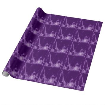 PRETTY PURPLE STYLE WRAPPING PAPER