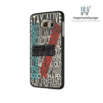 Twenty one pilots lyric For Samsung Galaxy S6| S6 Edge Case