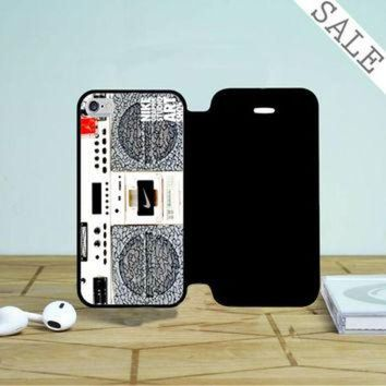 DCKL9 Nike Air Jordan Radio Boombox iPhone 4 |4S Flip Case
