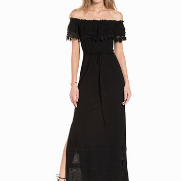 Crochet Bardot Maxi Dress, Miss Selfridge