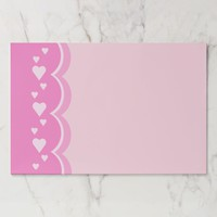 Pink Hearts Paper Pad